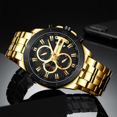 New Luxury Brand CURREN Quartz Watches Sporty Men Wristwatch with Stainless Steel Clock Male Casual Chronograph Watch Relojes - Slabiti