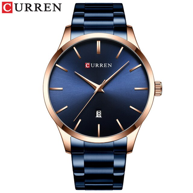 New Men's Watches Luxury Brand CURREN Mens Quartz Watch Male Clock Stainless Steel Mens Dress Wristwatches Relogio Masculino - Slabiti