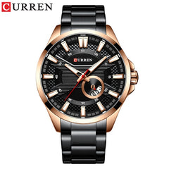 New Stainless Steel Quartz Men's Watches Fashion CURREN Wrist Watch Causal Business Watch Top Luxury Brand Men Watch Male Clock - Slabiti
