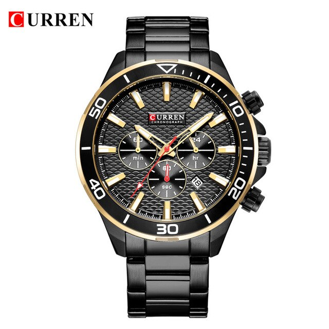 New Watch For Men Casual Military Quartz Sports Wristwatch CURREN Brand Fashion Chronograph Stainless Steel Male Clock Relojes - Slabiti
