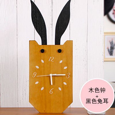 Nordic deer, creative clock, super mute, girl room, table, cartoon, lovely clock - Slabiti