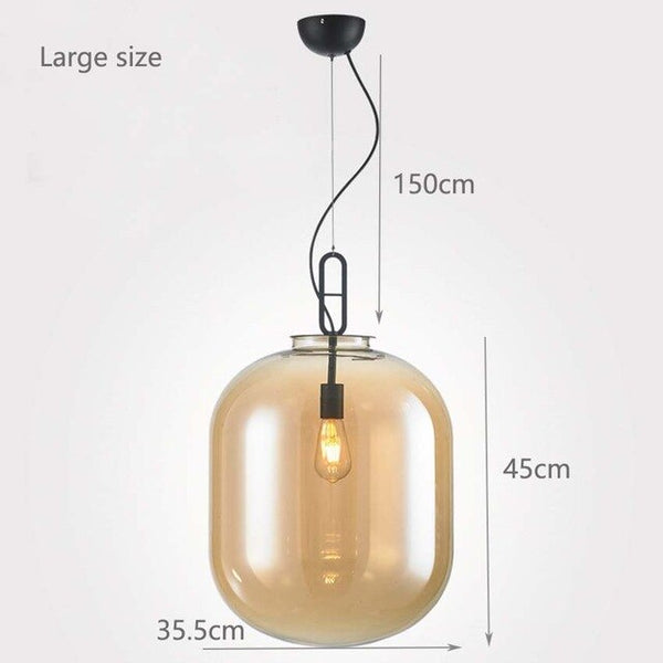 Nordic dining room pendant lights amber gray glass hanging lamps for kitchen living room bedroom restaurant hotel hall lighting