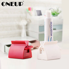 ONEUP Rolling Toothpaste Squeezer Tube Toothpaste Squeezer Dispenser Easy Creative Tooth Paste Holder Bathroom Accessories Sets - Slabiti
