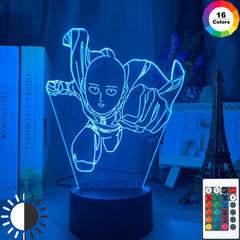 One Punch Man Saitama Figure Led Night Light Lamp for Home Decoration Nightlight Cool Manga Store Decor Ideas Table 3d Light - Slabiti