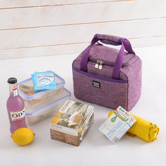 Oxford Cooler Lunch Bag For Travel Picnic Kids Portable Storage Ice Food Pack Container Organizer Ice Pack Large Therma Bag - Slabiti