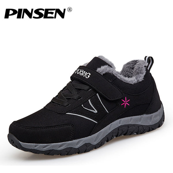 PINSEN 2020 Winter Fashion Women Shoes Lace-up Comfortable Casual Shoes Woman Outdoor Keep Warm Mother Shoes zapatillas mujer - Slabiti