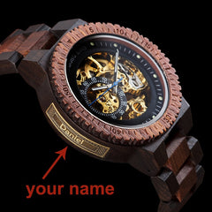 Personalized Customiz Watch Men BOBO BIRD Wood Automatic Watches Relogio Masculino OEM Anniversary Gifts for Him Free Engraving - Slabiti