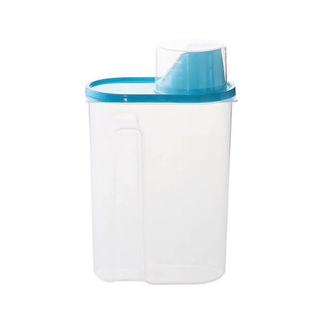 Plastic Grain Storage Box Container Cereal Dispenser Rice Sealed Boxes For Food Fresh Organizer Containers Kitchen Tool 2L/2.5L - Slabiti