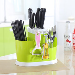 Plastic Kitchen Storage Rack For Organizer Kitchen  Knife Fork Shelf Spoon Holder Tool Drain  Chopsticks Tableware Utensils - Slabiti
