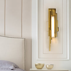 Post-modern living room wall lamp nordic wrought iron acrylic bedroom bedside led indoor wall light stair aisle loft sconce lamp - Slabiti