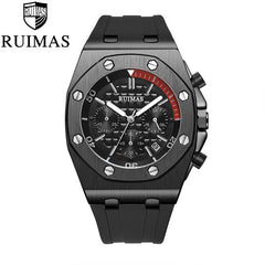 RUIMAS Chronograph Men Sport Watch Fashion Silicone Army Military Watches Relogio Masculino Quartz Wrist Watch Clock Men - Slabiti