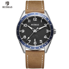 RUIMAS Simple Quartz Watches Men Luxury Top Brand Wristwatch Casual Army Leather Watches Man Luminous Relogios Masculino 573 - Slabiti