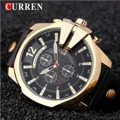 Relogio Masculino CURREN Golden Men Watches Top Luxury Popular Brand Watch Man Quartz Gold Watches Clock Men Wrist Watch 8176 - Slabiti