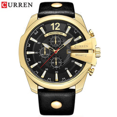 Relogio Masculino Mens Watches Top Brand Luxury Leather Strap Waterproof Sport Men Quartz Watch Military Male Clock Curren 8176 - Slabiti