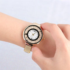 Rolling Ball Design Dial Quartz Watch for Women Elegant Ladies Stainless Steel Watch Strap Women's Watches New Arrival 2019 - Slabiti