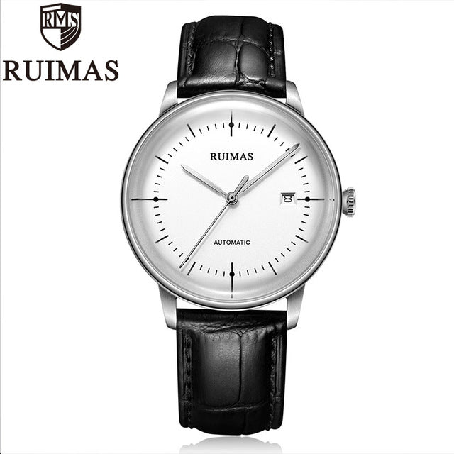 Ruimas Automatic Miyota Mechanical Watch Men Thin Sports Mens Watches Wristwatches Waterproof Relogio Masculino 2018 - Slabiti