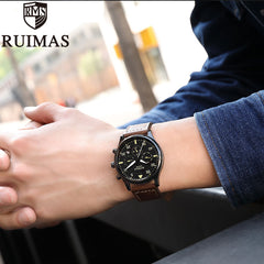 Ruimas Business Watch Men Automatic Luminous Clock Men Tourbillon Waterproof Mechanical Watch Top Brand Relogio Masculino - Slabiti