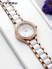 SINOBI Fashion Women's Bracelet Watches For Elegant Ladies Watches Rose Gold Wristwatch Diamond Female Clock Relojes Mujer 2017 - Slabiti