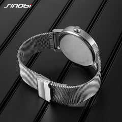 SINOBI Men Watches Unique Rotate Creative Watch Men Man Male Steel Mesh Band Quartz Wristwatches Silver Men Watches Reloj Hombre - Slabiti