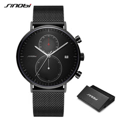 SINOBI New Men Watch Brand Business Watches For Men Ultra Slim Style Wristwatch JAPAN Movement Watch Male Relogio Masculino - Slabiti