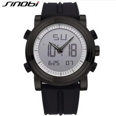 SINOBI Sports Watches Men Women Dual Display Analog Digital LED Electronic Quartz Wristwatches Men reloj Waterproof Alarm Clock - Slabiti