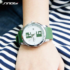 SINOBI Women's Quartz Watch Fashion Sport Watch Waterproof Silicone Casual Colorful Style Dress Calendar Saat Wristwatch Women - Slabiti