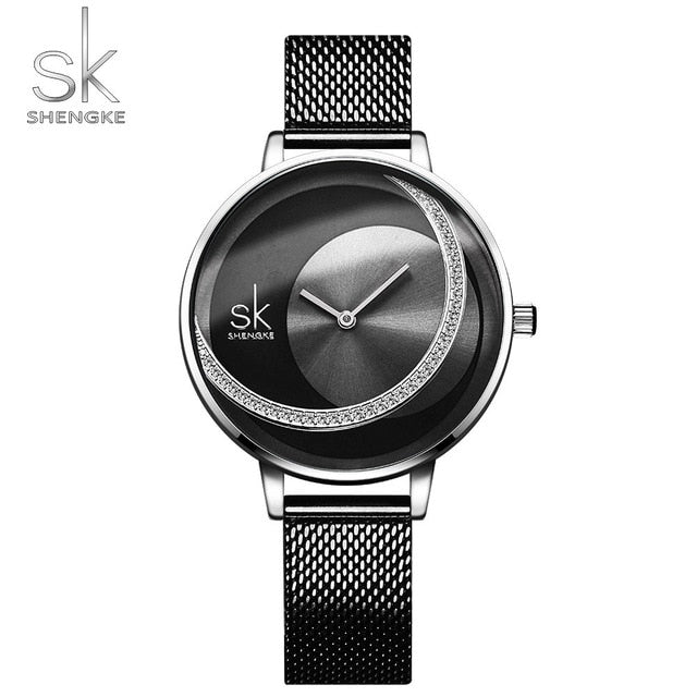 SK Fashion Luxury Brand Women Quartz Watch Creative Thin Ladies Wrist Watch For Montre Femme 2019 Female Clock relogio feminino - Slabiti
