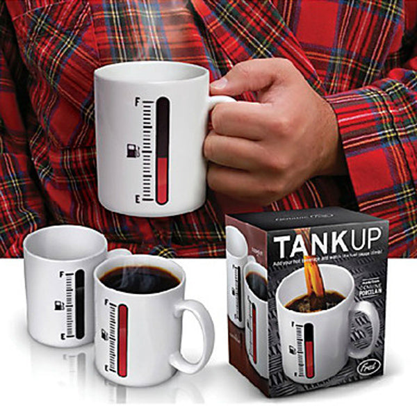 Magic Color Changing Cup Thermometer Coffee Mug Tank Up Mugs