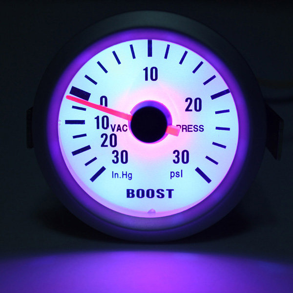Auto Car Mechanical Boost Vacuum Gauge Autometer Ultra Lite Silver - Slabiti
