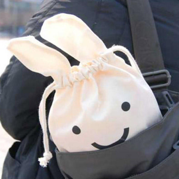 Mini Cute Ninja Rabbit Storage Bag Case Pouch 34 x 21cm - Slabiti
