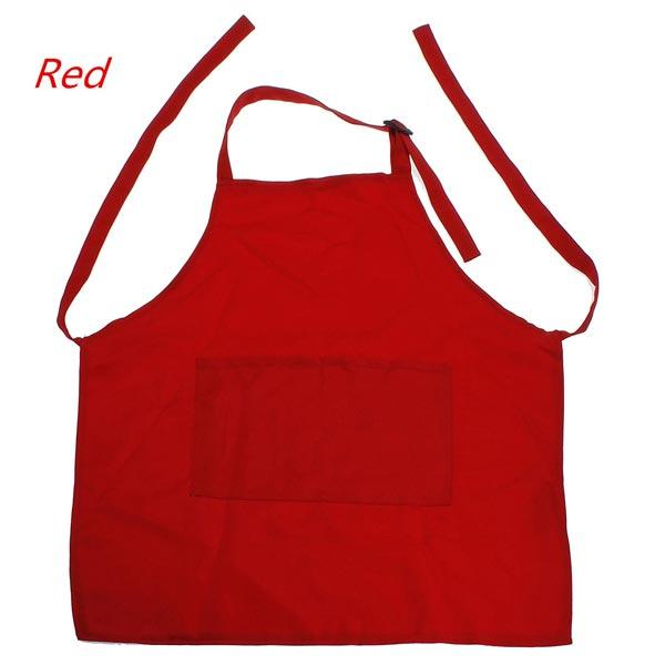 Cute Kids Children Kitchen Painting With Pocket Polyester Adjustable Aprons - Slabiti