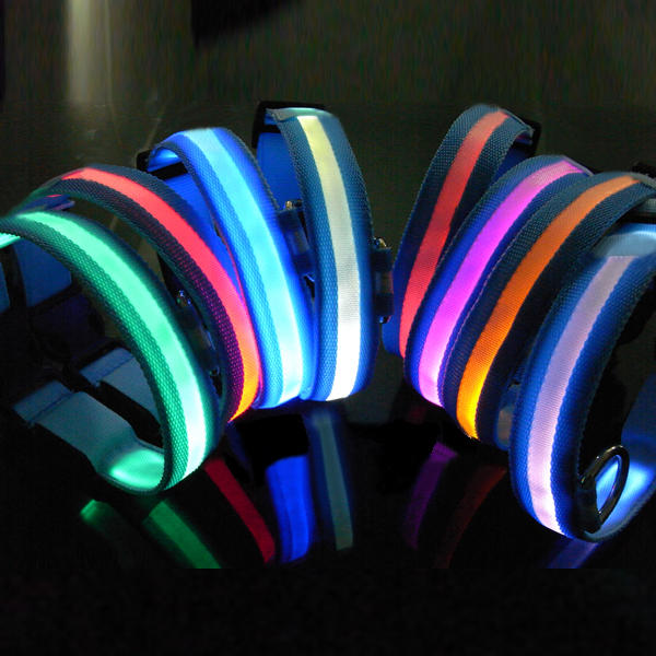 LED Pet Dog Collar Night Safety Dog Flashing Collar - Slabiti