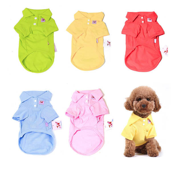 Yani HP-PC1 Multi-Colors Pure Cotton Pet Clothes Polo Shirt Dog Cat Clothing - Slabiti