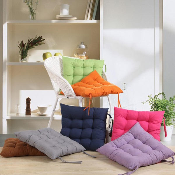 Soft Square Cotton Seat Cushion Home Sofa Office Chair Pillow - Slabiti