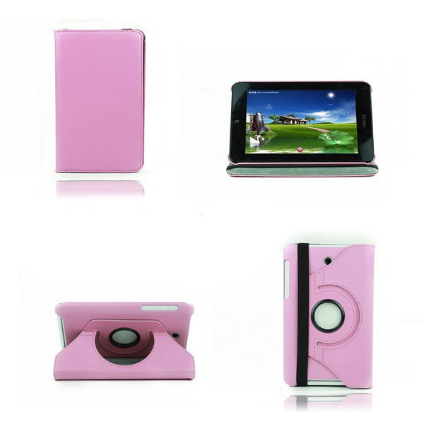 360 Degree Rotating PU Stand Leather Case For Ausu ME173x Tablet - Slabiti