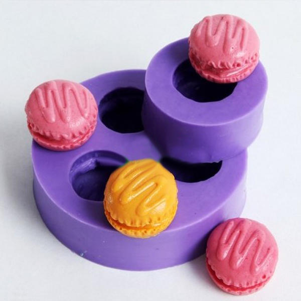 F0350 Fondant Mini Macarons Silicone Cake Mould Soap Chocolate Mold - Slabiti