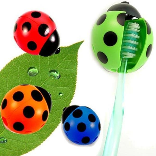 Creative Covered Coccinella Suction Toothbrush Holder - Slabiti