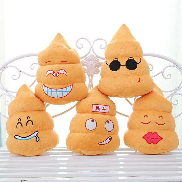 Funny Poo Shape Throw Pillow Dolls Bed Sofa Chair Cotton Cushion - Slabiti