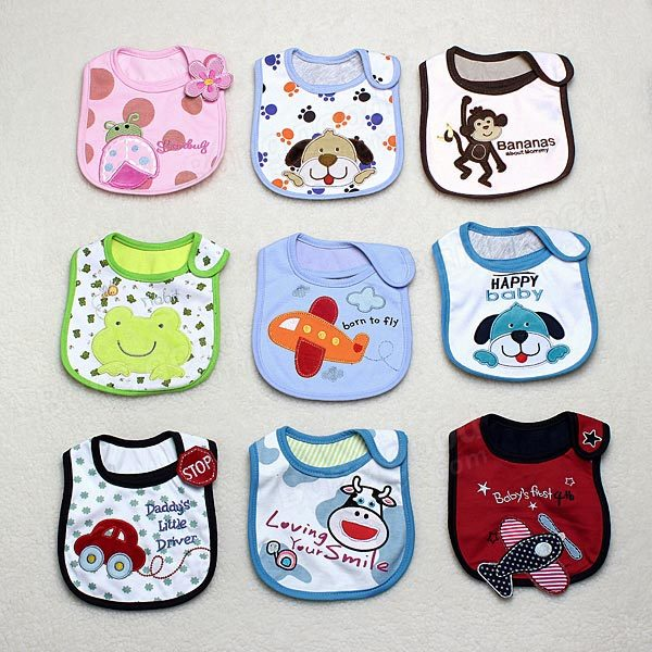 Baby 3 Layer Cotton Napkin Saliva Towel Lunch Bibs Waterproof - Slabiti