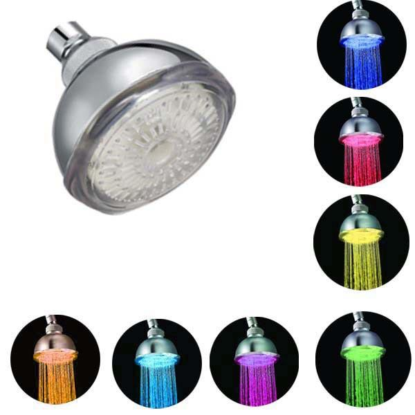 LED Multi-color RGB Automatic Temperature Sensor Bath Top Shower - Slabiti
