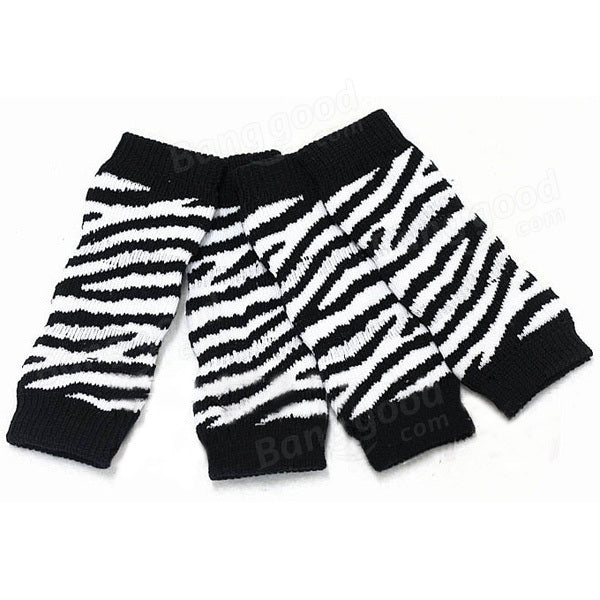 Black And White Stripe Cotton Knitting Pet Ankle Sock Knee Pad Boat Socks - Slabiti