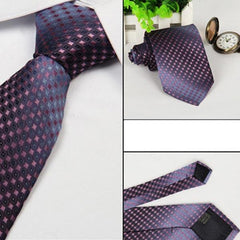 Mens Arrow Type Business Jacquard Dot Pattern Ties - Slabiti