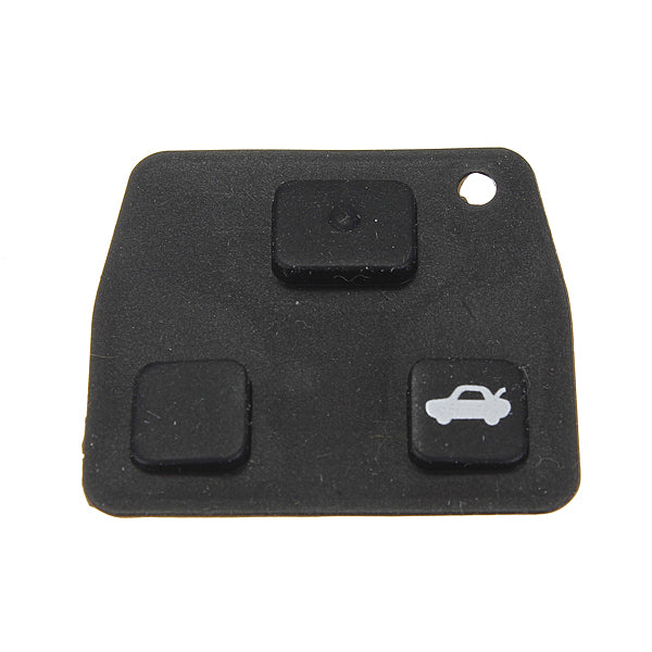 Replacement 2/3 Button Car Remote Key Black Rubber Pad For Toyota - Slabiti