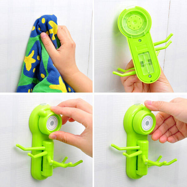 Vacuum Suction Cup Sucker Wall Window Bathroom Kitchen Hanger Hooks - Slabiti
