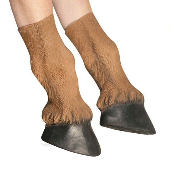 Adult Latex Horse Hooves Halloween Costume Gloves Prop - Slabiti