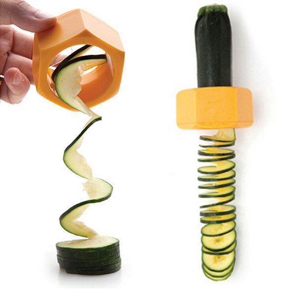 Spiral Cucumber Slicer Vegetable Fruit Salad Cutter Kitchen Gadgets Cooking Tool - Slabiti