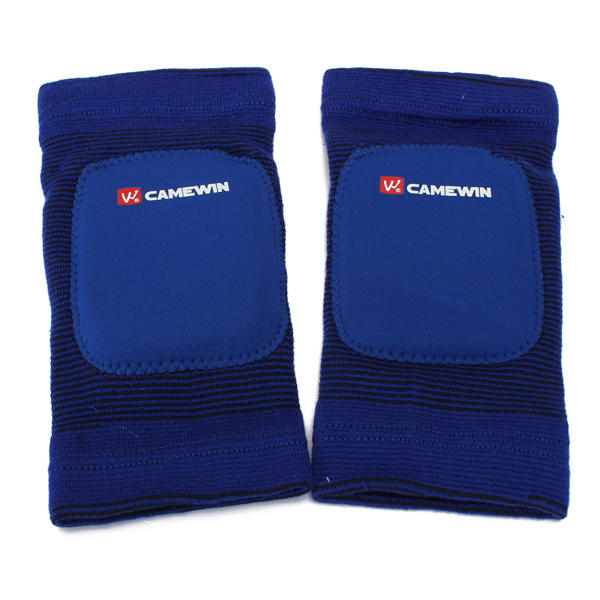 Blue Red 1 Pair Leg Knee Pads Elastic Kneelet Knee For Athletic Sports - Slabiti