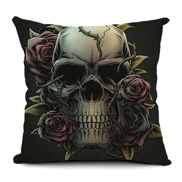 Halloween Gothic Cotton Linen Pillow Case Home Office Car Cushion Pillowcase - Slabiti