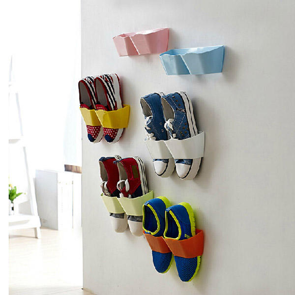 Creative Hanging Shoe Rack Wall Hang Save Space Shoes Holder - Slabiti