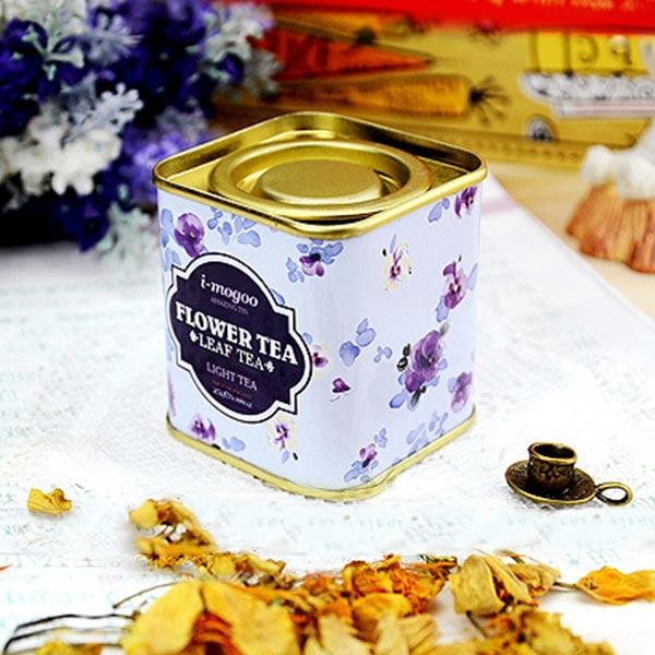 European Vintage Flower Tea Tin Box Candy Box Wedding Gift Case Container Organization - Slabiti